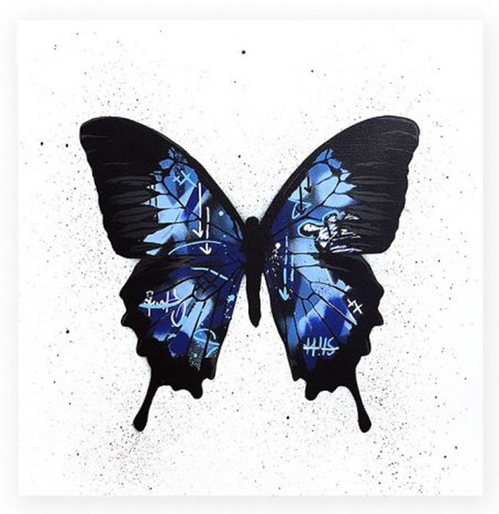"Martin Whatson ""Butterfly (blue)"""