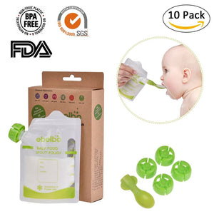 10pcs Food Storage Pouch 180 ml