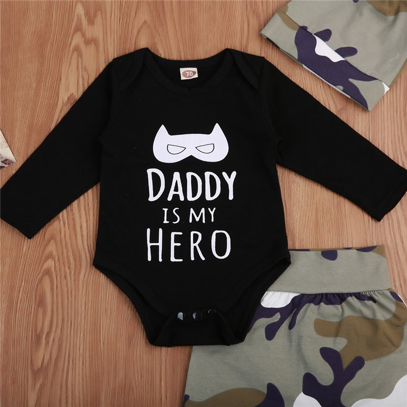 3Pcs Daddy Hero Outfit