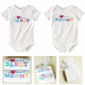 "2 ""Love Mommy & Daddy"" Rompers Pack"