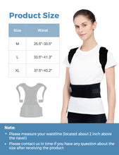 Posture Corrector for Men and Women KarmaRebirth Back Brace with Fully Adjustable Straps Shoulder Cushion Magnet Belt Improves Posture Provides Lumbar Support Relieve Lower and Upper Back Pain