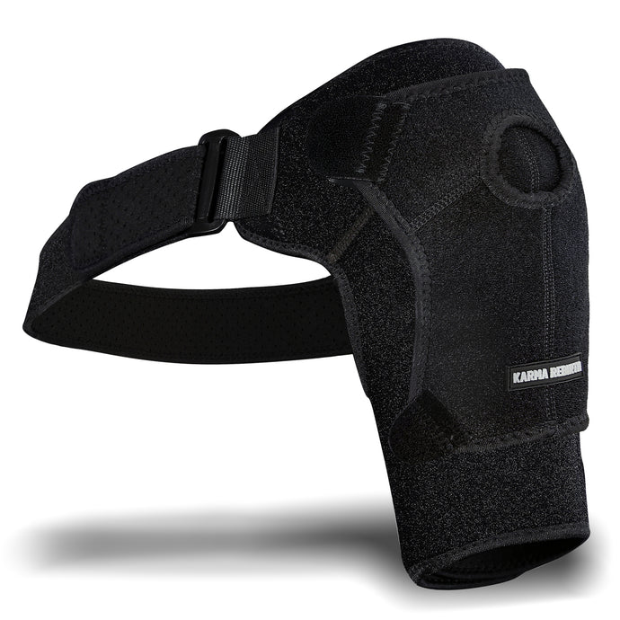 Shoulder Support Shoulder Brace for Women and Men KarmaRebirth HOT/ICE(Pack not Included) & New Upgrade Compression Shoulder Support to Relieve Dislocated AC Joint, Labrum Tear, Shoulder Pain
