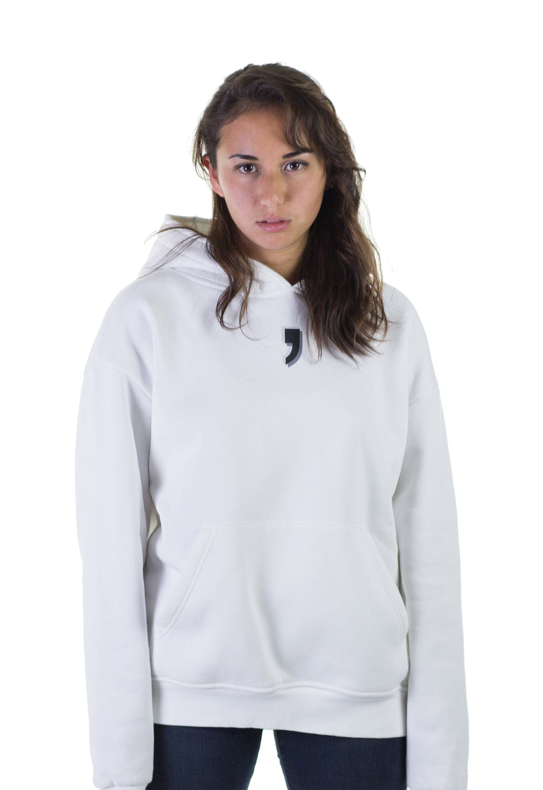 Hoodie on Woman White