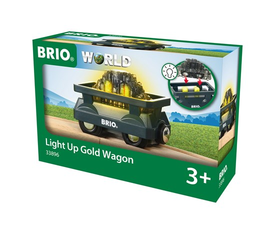 Light Up Gold Wagon Brio