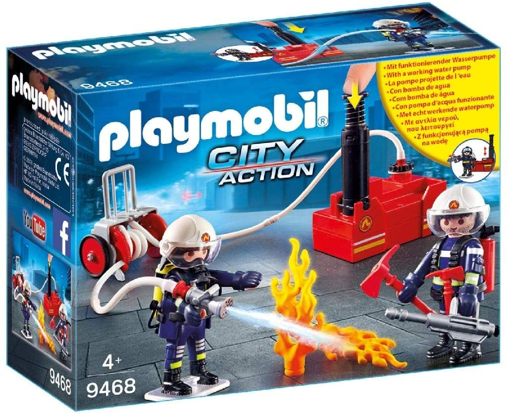 Firefighters w/ Water Pump Playmobil