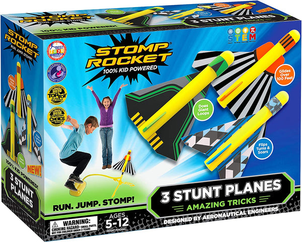 3 Stunt Planes Stomp Rocket