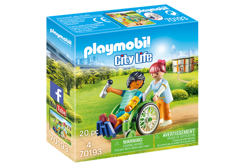 Patient In Wheelchair Playmobil