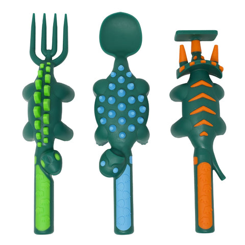 Set of 3 Dino Utensils