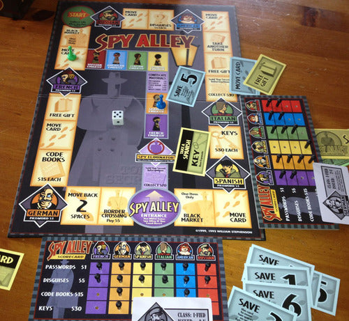 Spy Alley Board Game