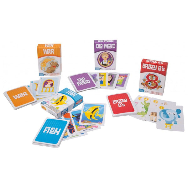 Child's 4 Card Games in Tin