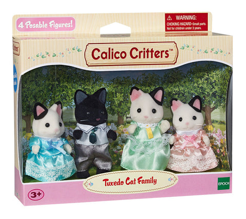 Tuxedo Cat Family Calico Critters