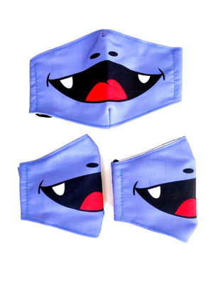 DEENO-SAUR Purple Character Face Mask for Kids 3+ years PM2.5 - Pack of 3