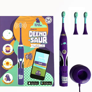DEENO-SAUR Smart Rechargeable Toothbrush for Kids 3+ with Interactive App- 2019 Model