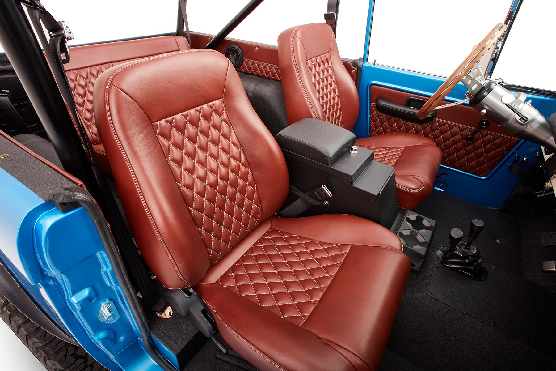 Classic Ford Bronco Interior Relicate Antiqued Leather
