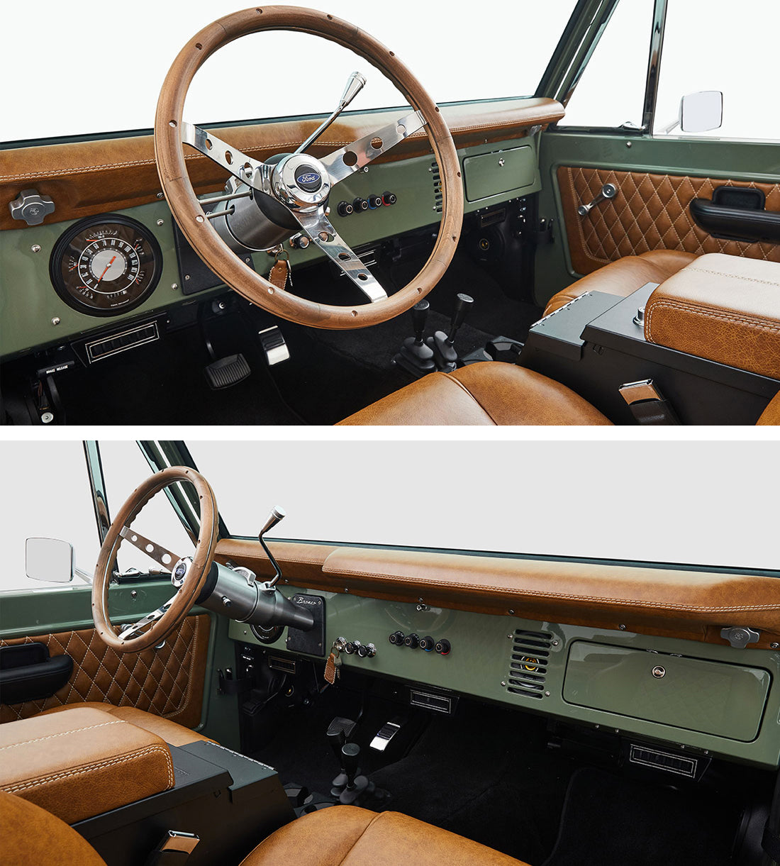 Classic Ford Broncos Relicate Distressed Leather Interior Dash Pad
