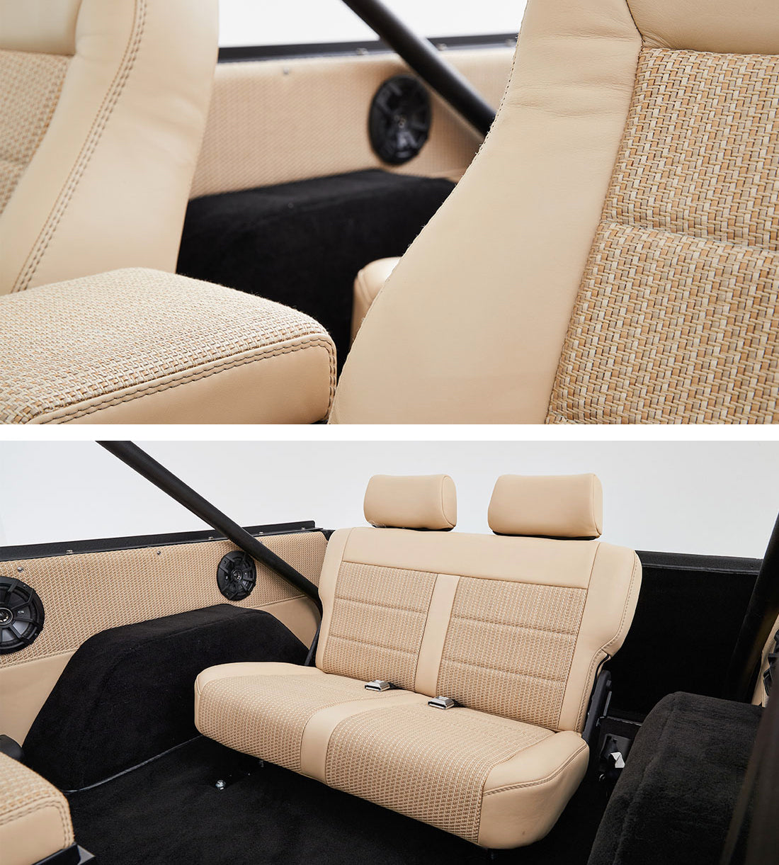 Classic Ford Broncos with Relicate Woven Leather Interior Bench Seat