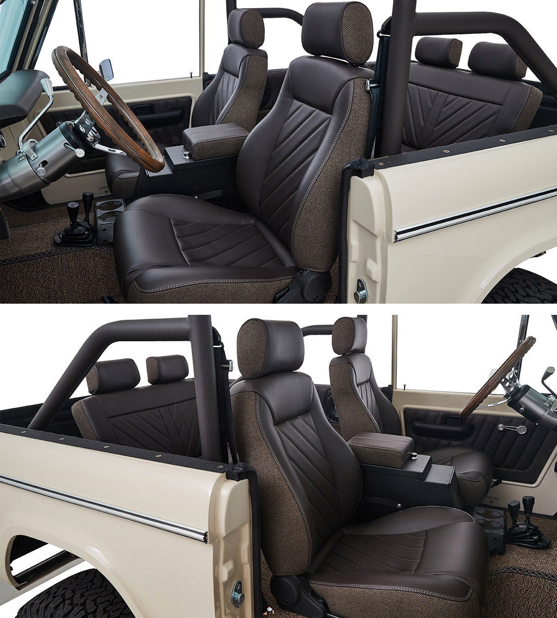 Classic Ford Broncos with Relicate Leather Interior Seats