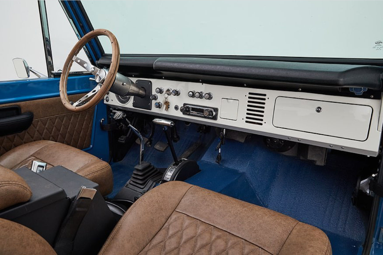 Classic Ford Broncos with Relicate Ancient Oak Vintage Distressed Leather interior dash