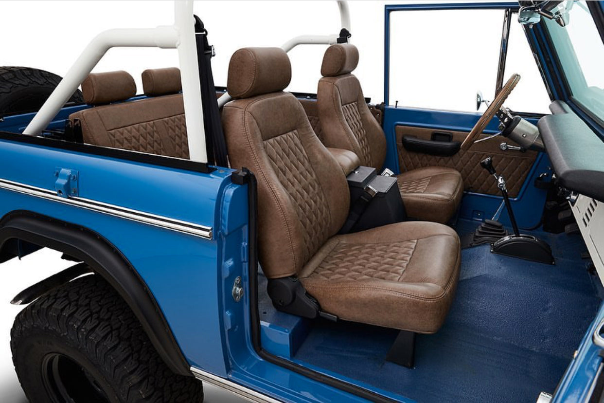 Classic Ford Broncos with Relicate Ancient Oak Vintage Distressed Leather interior