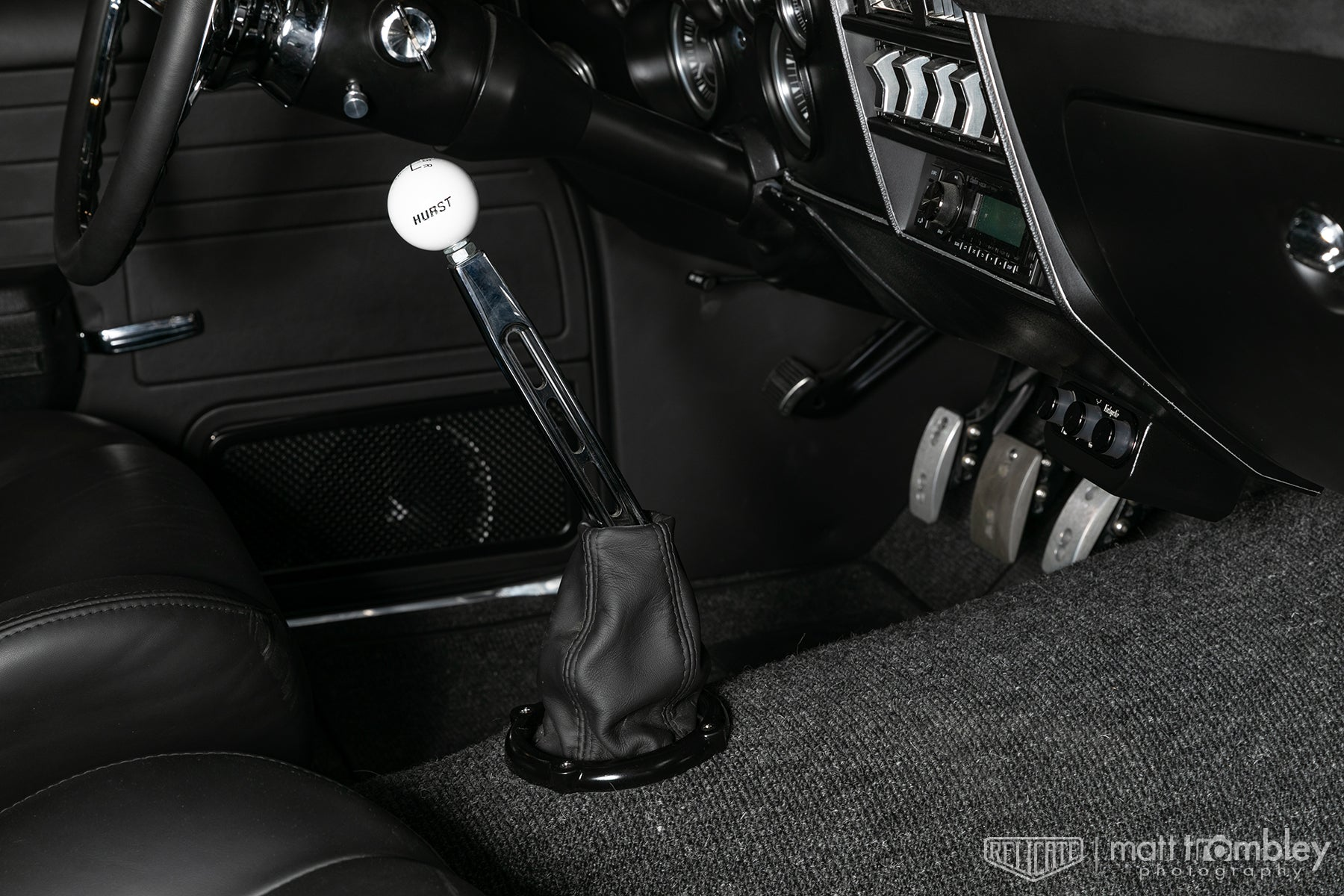 Relicate 1969 Chevelle Black Leather Interior shifter boot