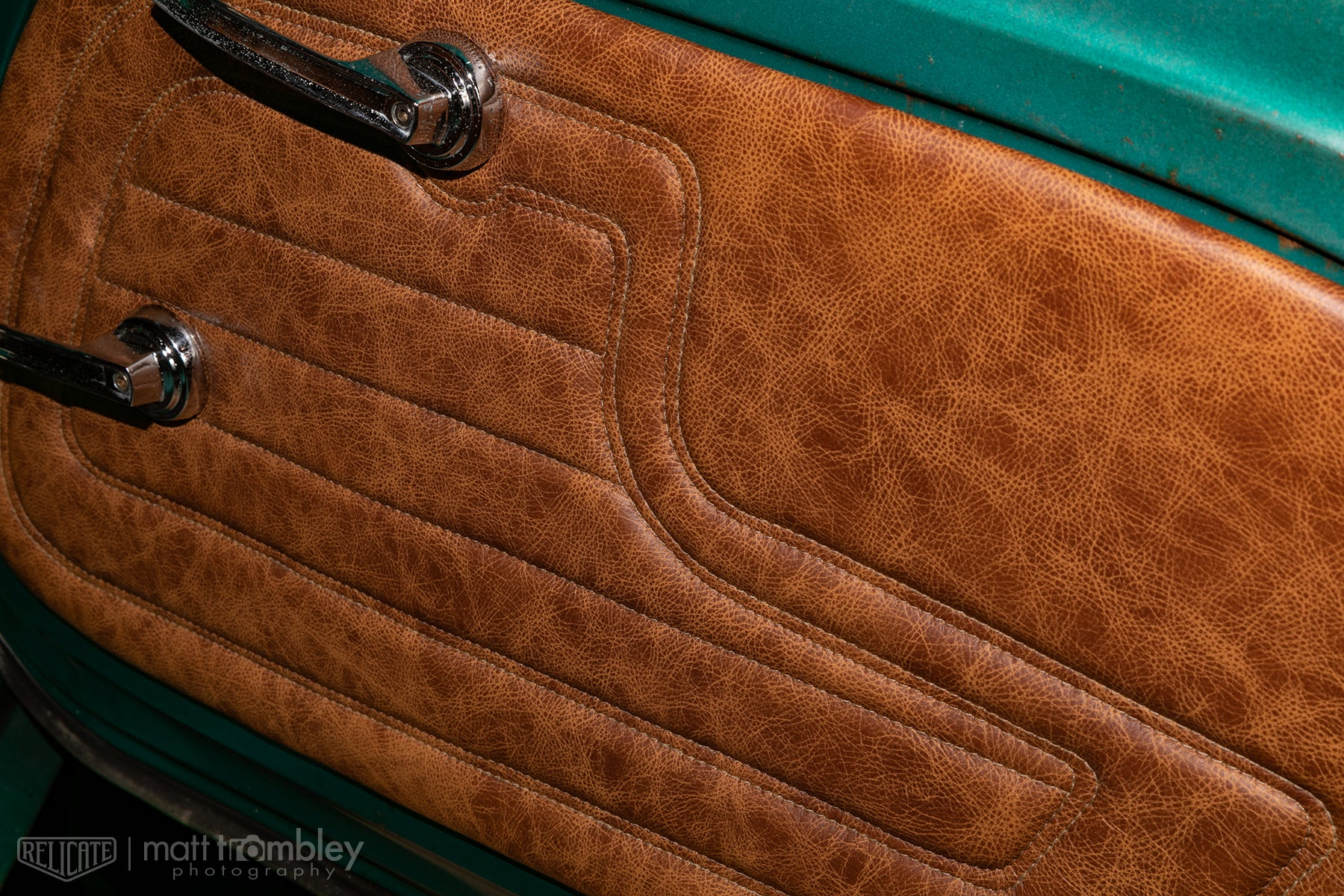1969 Jeepster Commando RoamR Relicate Distressed Leather Interor