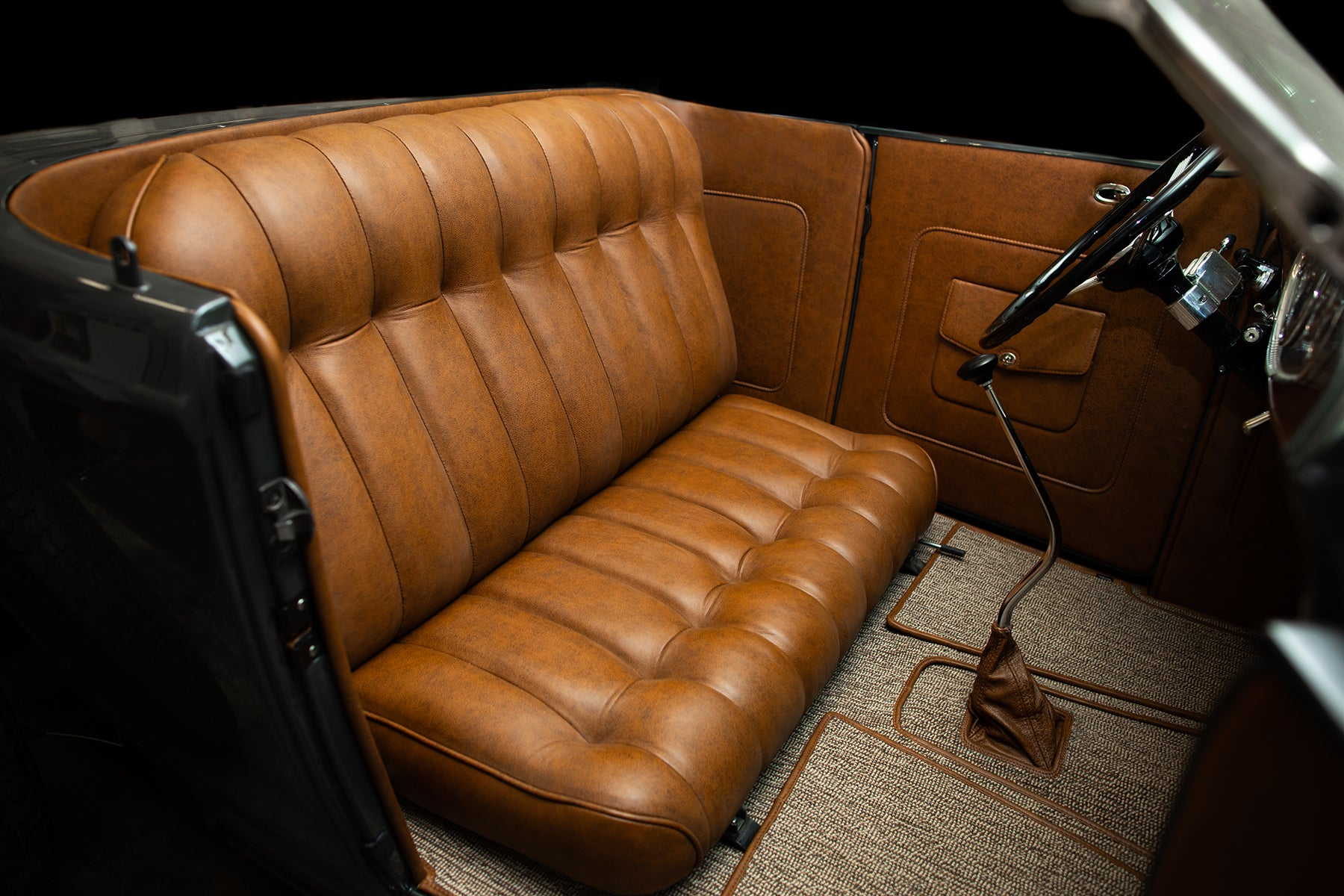 1932 Ford Roadster with Relicate Vintage Saddle Distressed Leather