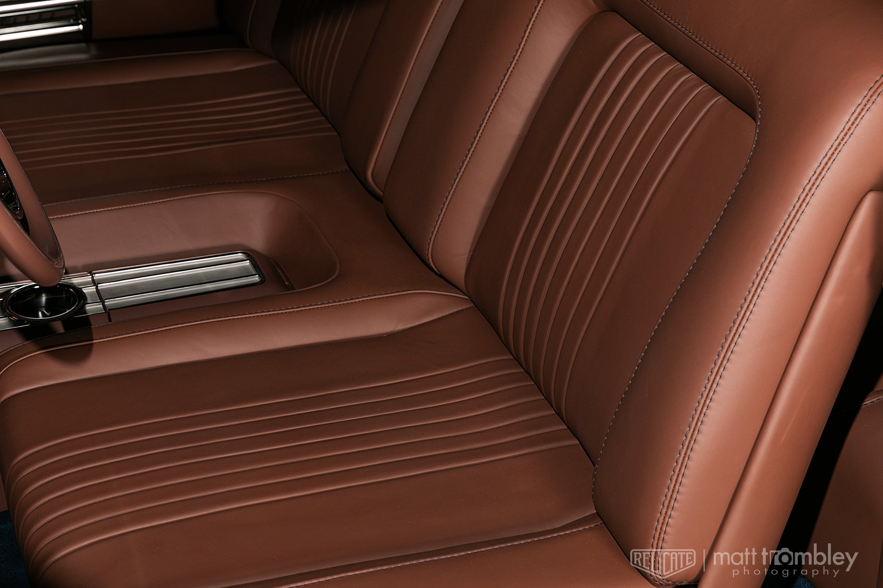 1956 Pontiac Leather Interior Relicate Napa seat detail