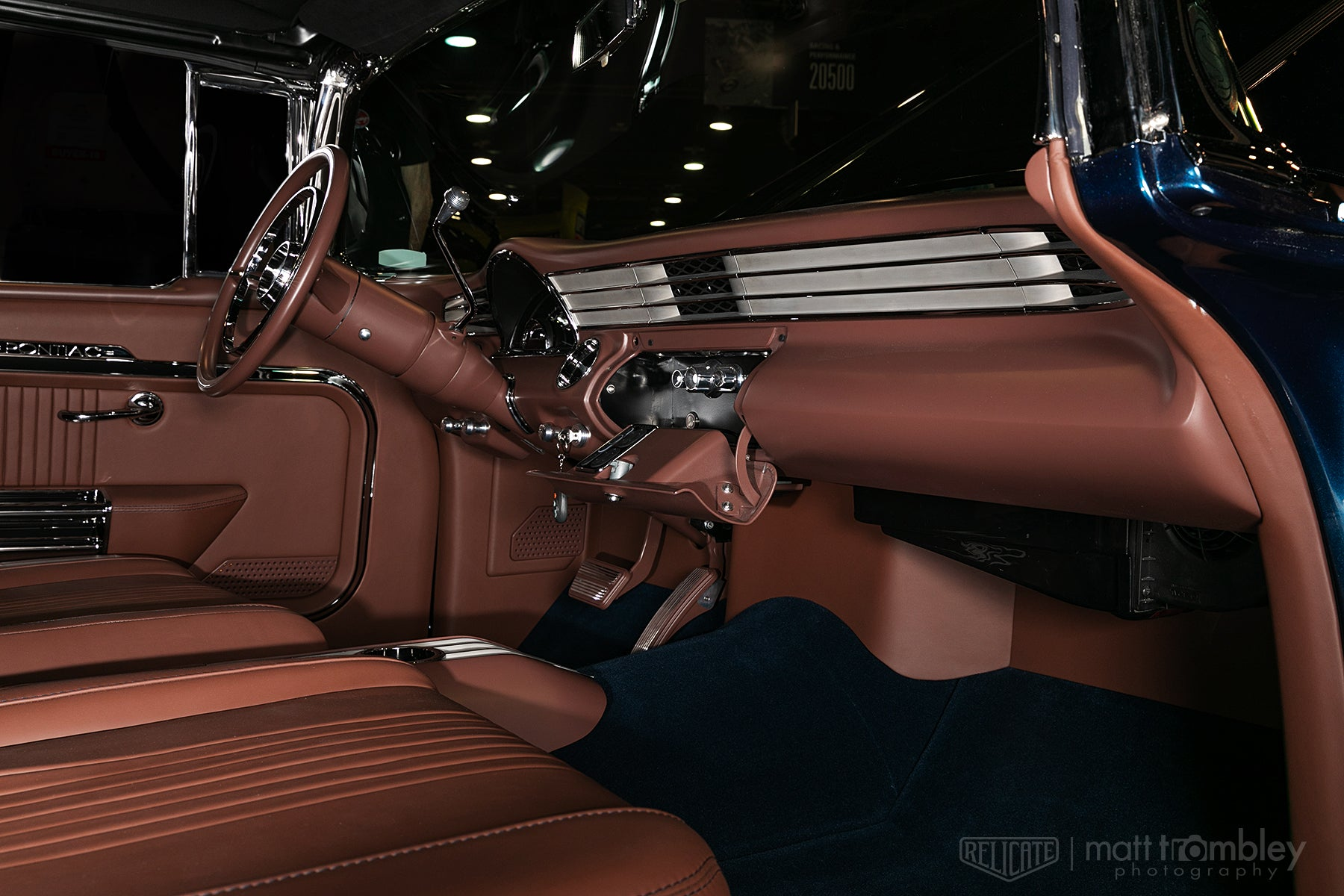 1956 Pontiac Leather Interior Relicate Napa Brandy Spice