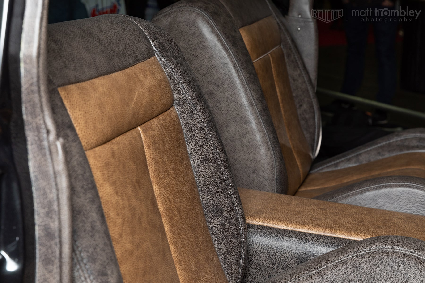 1960 Ford Country Squire Leather Interior Bucket Seats