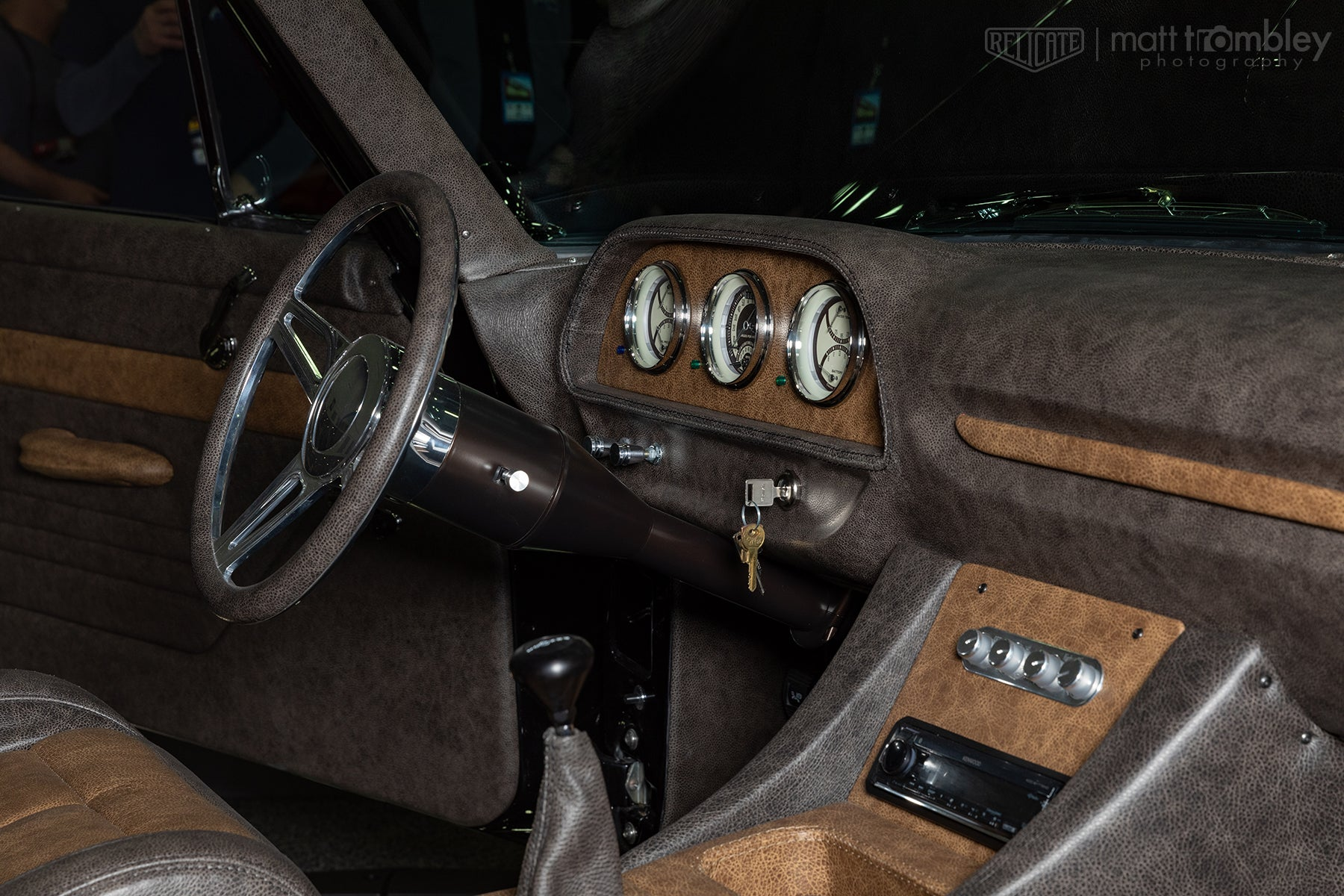1960 Ford Country Squire Leather Interior Dash Steering Wheel Gauges