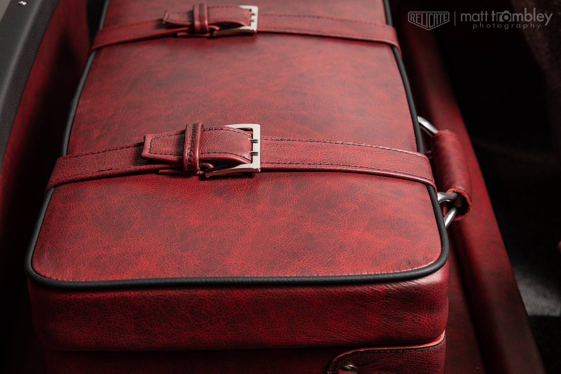 1966 Datsun Fairlady Roadster with Moroccan Distressed Leather Interior luggage suitcase