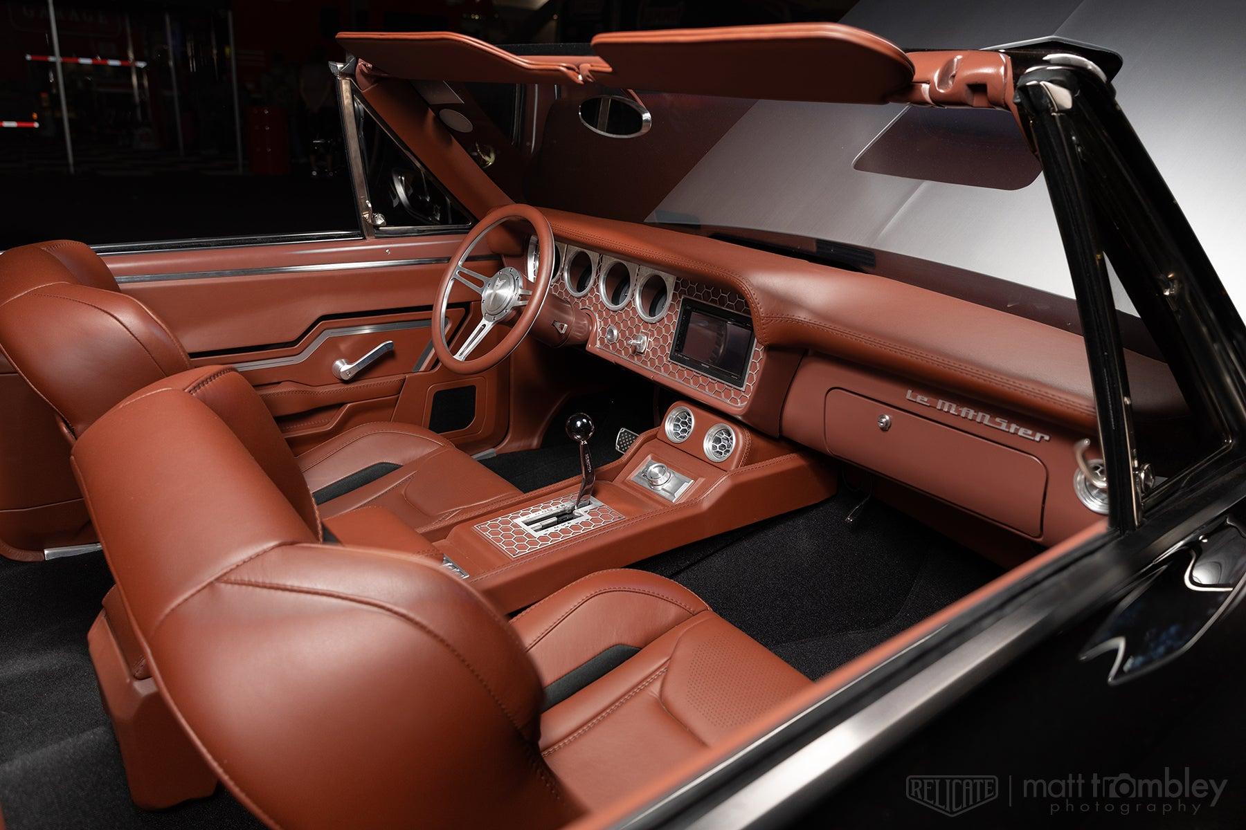 1966 Pontiac Lemans Convertible Relicate Full Grain Millbrook interior Bux Customs Sema 2019