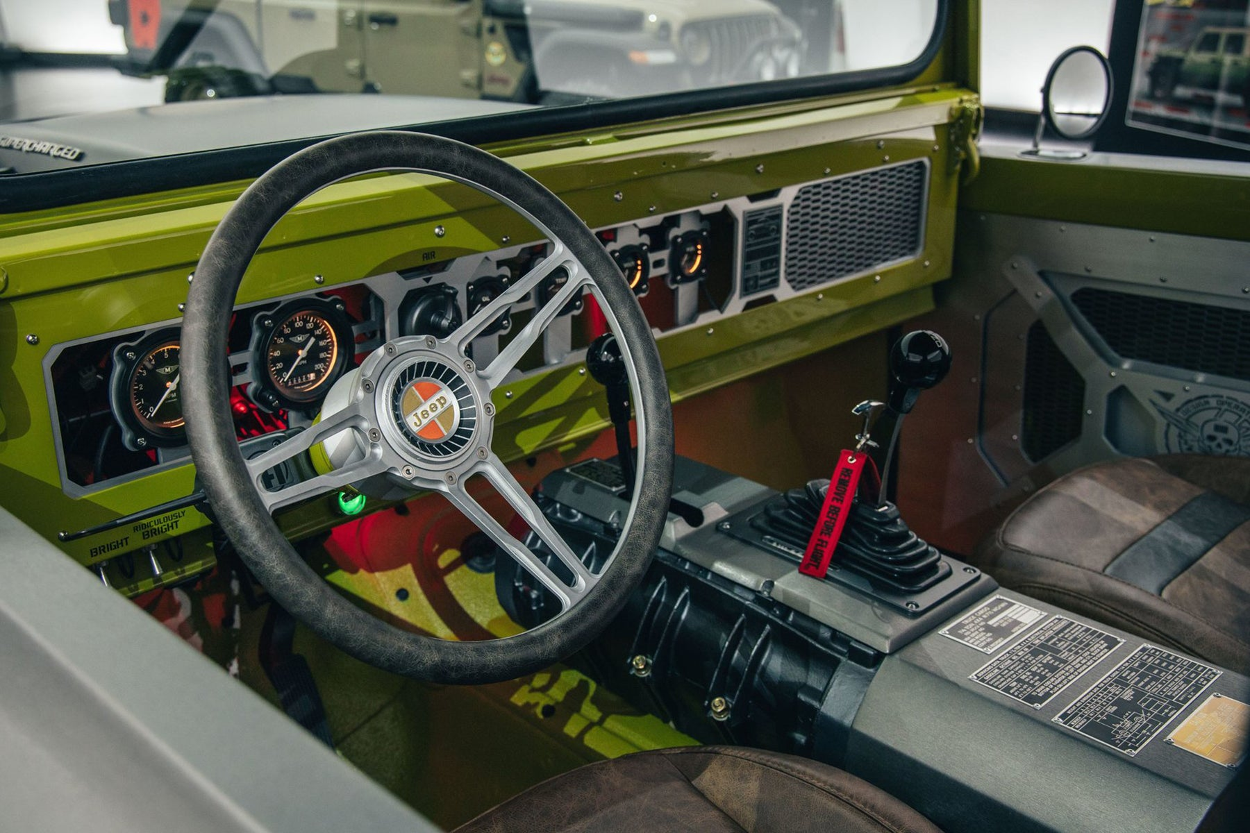 Relicate Distressed Leather Interior 1968 Jeep® M-715 Five Quarter Gladiator Concept
