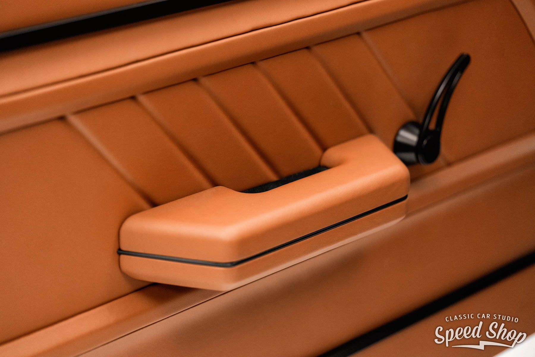 Classic Car Studio 1971 Chevelle with Relicate Butter Rum Leather Interior Door Panel