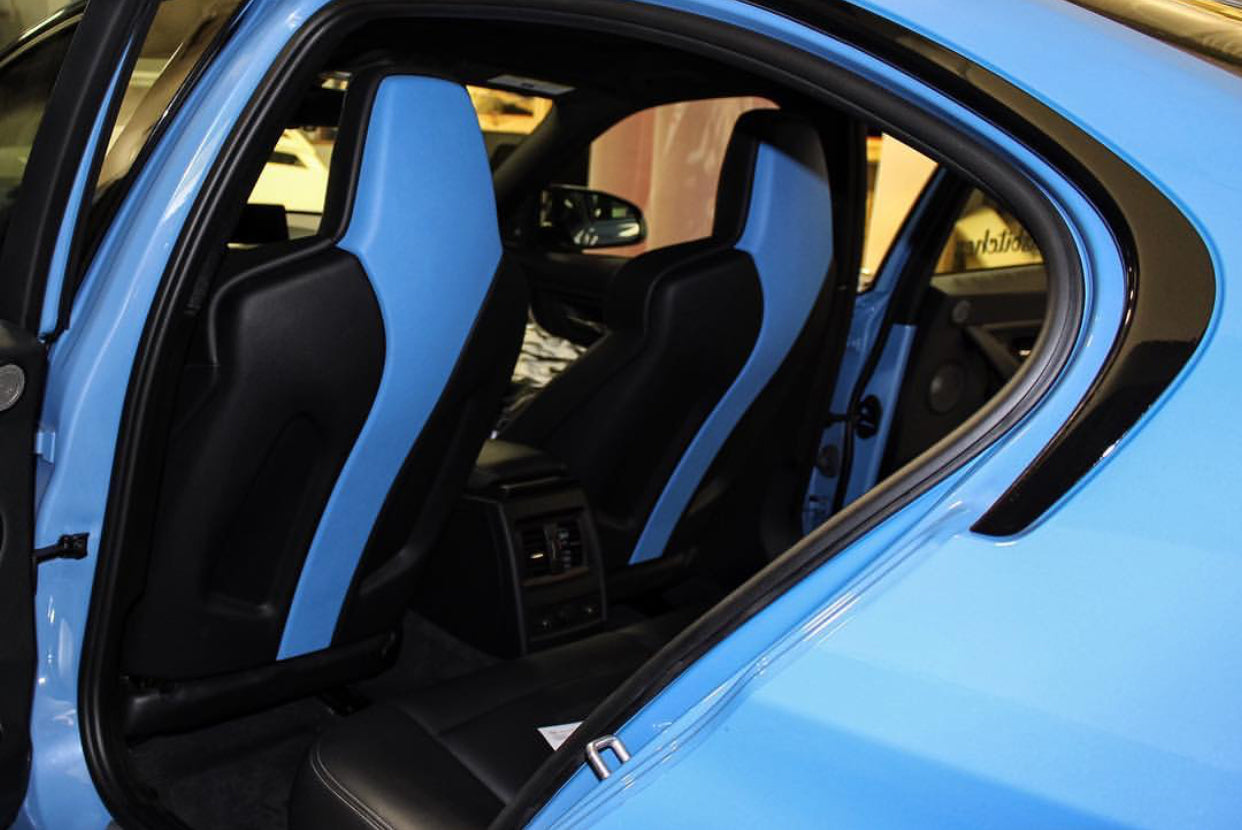 BMW Yas Marina Blue Relicate Leather