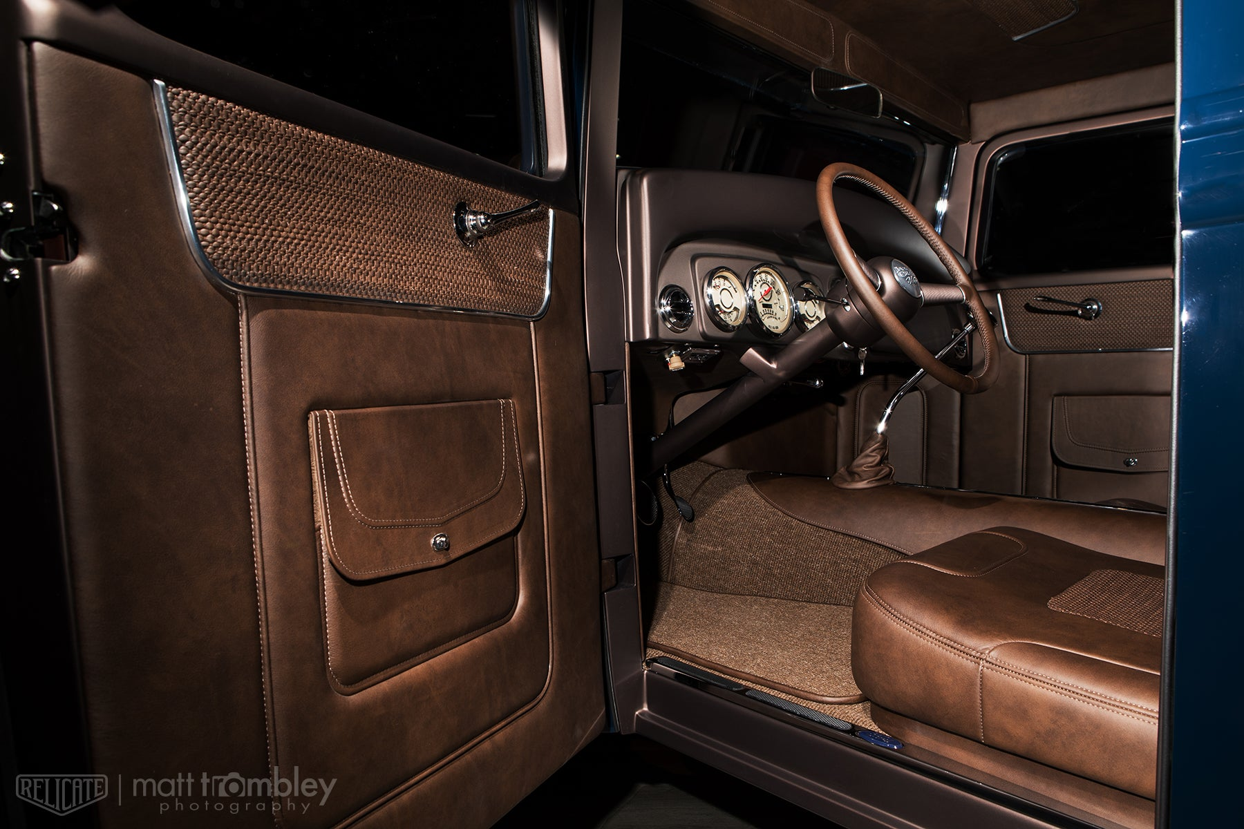 Relicate Antiqued and Woven Leather Jason Graham Hot Rods 1934 Ford Pickup