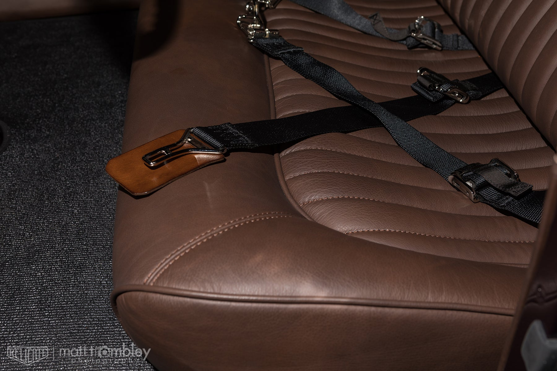 Relicate Leather 1932 Ford Matte Antiqued Leather Interior Hilton Hot Rods