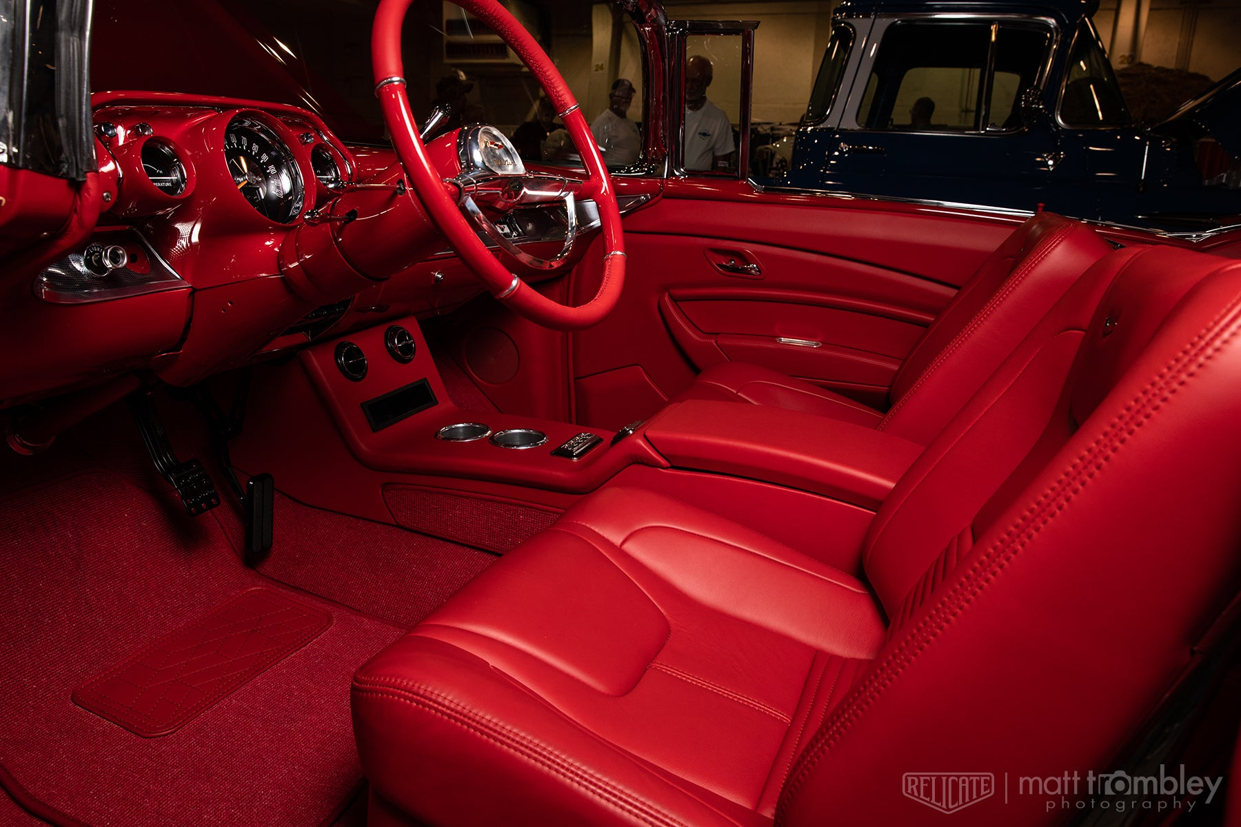 1957 Chevrolet Belair Convertible with Relicate Napali Cherry Leather
