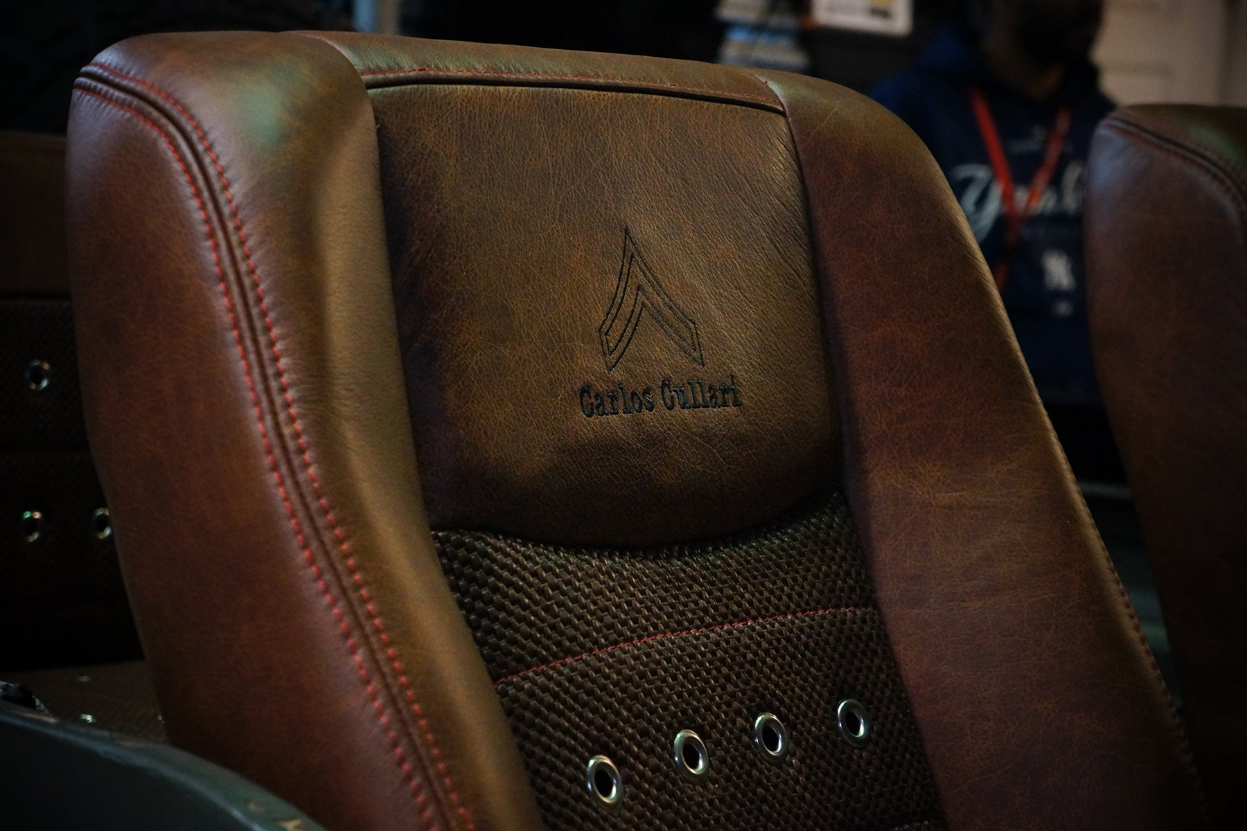 Relicate Rich Clay Distressed Leather Hides in Jeep with woven leather
