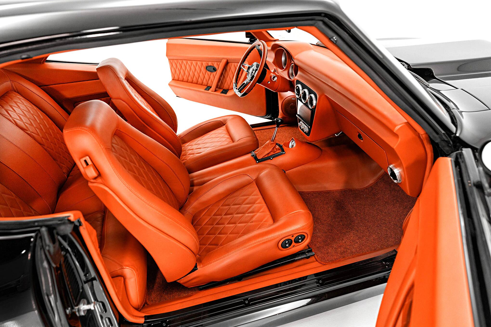 Classic Car Studio Relicate Orange Leather 1969 Camaro interior