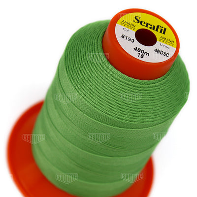 Yellows/Greens Serafil Thread 15 (TEX 210) 8190 - Relicate Leather Automotive Interior Upholstery