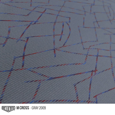 M CROSS FABRIC - GRAY  - Relicate Leather Automotive Interior Upholstery