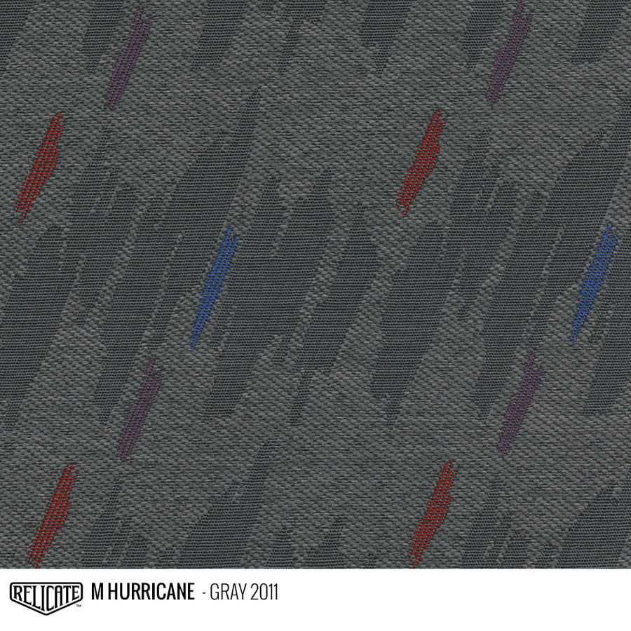M HURRICANE FABRIC - GRAY Product / Gray - Relicate Leather Automotive Interior Upholstery