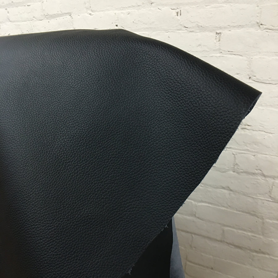 BLACK LEATHER - FULL HIDE  - Relicate Leather Automotive Interior Upholstery