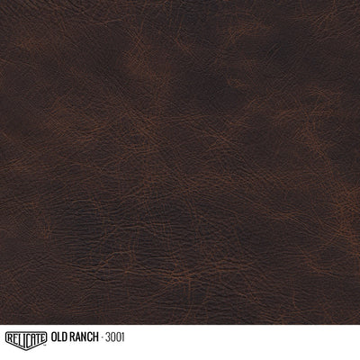 Matte Distressed Leather Hide(s) / Old Ranch 3001 / 1/2 Hide - Relicate Leather Automotive Interior Upholstery