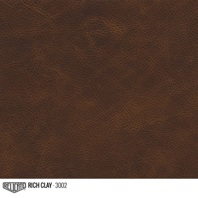 Matte Distressed Leather Hide(s) / Rich Clay 3002 / 1/2 Hide - Relicate Leather Automotive Interior Upholstery
