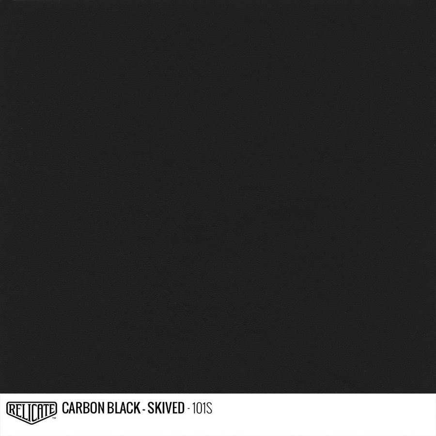 Carbon Black - Skived Product / 1/4 Hide - Relicate Leather Automotive Interior Upholstery
