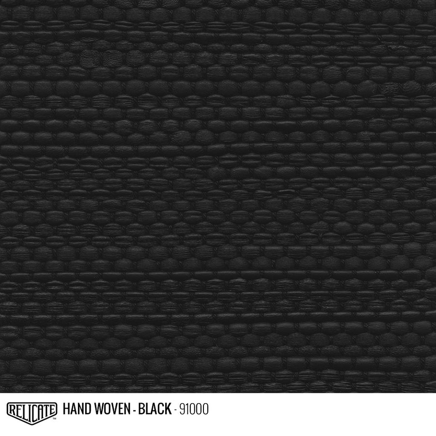 Hand Woven Leather - Black Product / 6 Linear Inches - Relicate Leather Automotive Interior Upholstery