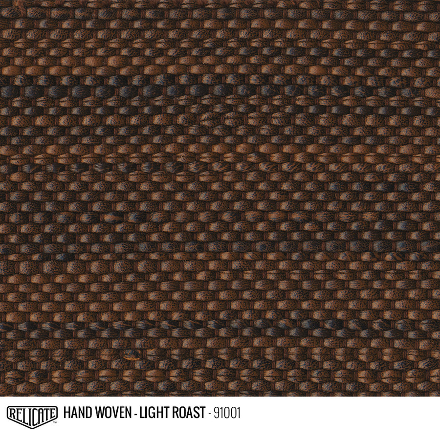Hand Woven Leather - Light Roast Product / 6 Linear Inches - Relicate Leather Automotive Interior Upholstery
