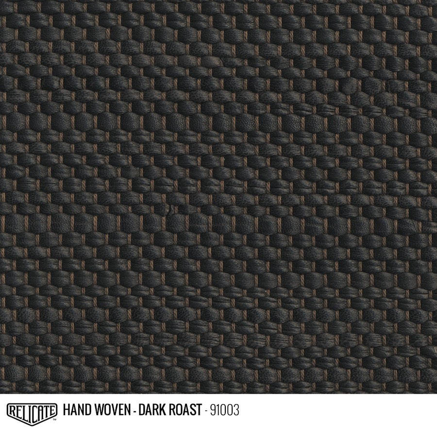 Hand Woven Leather - Dark Roast Product / 6 Linear Inches - Relicate Leather Automotive Interior Upholstery
